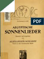 Alexander Scharff - Ägyptische Sonnenlieder (1922)