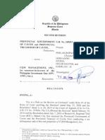 Prov'l Gov't of Cavite v CQM [2020]
