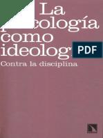 Parker I La Psicologia Como Ideologia