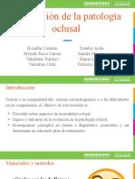 Evolución de la patología oclusal ok