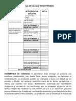 REJILLA DE LOGROS PARA ESTUDIANTES CALCULO ONCE