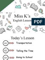 Miss K's English Lessons Y4 (Transportation 15.07)