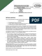 Primera Unidad. Curso Métodos y Técnicas de Investigacion Social