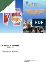 Propuesta de Reforma Integral del Sistema de Pensiones IESI-CGTP- CENAJUPE 2006
