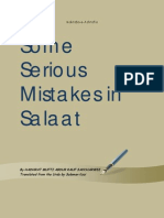 Some Serious Mistakes in Salaah