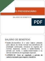 DIREITO PREVIDENCIÁRIO BENEFICIO