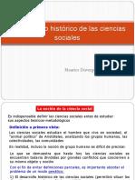 3) Desarrollo histórico de las ciencias sociales