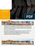 Green and Sustainable Buildings