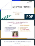 itl 608  student learning profiles