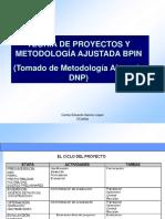 TEORIA DE PROYECTOS Y METODOLOGÍA BPIN vUC