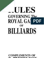 Rules of billiards