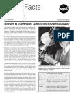 NASA Facts Robert H Goddard American Rocket Pioneer