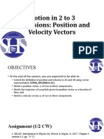 Session 12 position and velocity vector