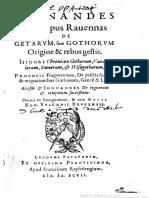 Iordanes Episcopus Ravennas - De Getarum Sive Gothorum Origine & rebus gestis - 1597