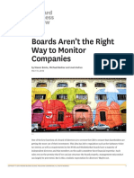 Boards Aren't the Right Way to Monitor Companies.
