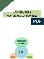 conservarea materialului seminal