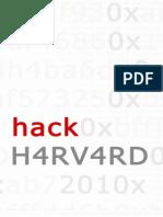 Hack Harvard Showcase Program January, 23, 2011