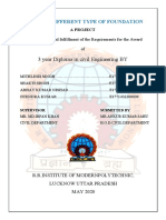 STUDY ON DIFFERENT TYPE OF FOUNDATION, RR BTECH