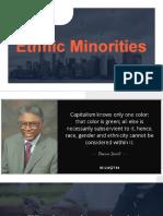 Ethnic Minorities and Globalization
