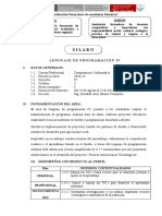 SILABO LENGUAJE DE PROGRAMACION IV - COMP E INF