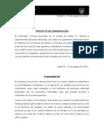 Proyecto Comunicación Protocolo del último adios