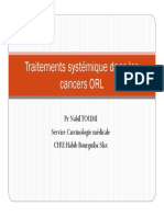 Traitement non chirurgical des cancers ORL