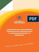 PROCEDIMIENTO PARA DECLARATORIA DESASTRE Y O EMERGENCIA