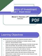 Module 1. Math Investment