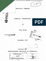 SYMBOLIC INTEGRATION (1967)