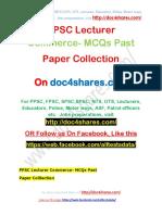 PPSC Lecturer Commerce-MCQs Past Paper Collection