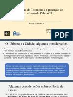 Urbanização do TO - Gense  de Palmas