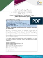Guía de actividades y rúbrica de evaluación – Tarea - 1 - Realizar reconocimiento del curso