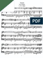 Bach, C F E. Sonata 1 en Re M