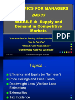 Lecture 4 Supply-Demand in Competitive Markets