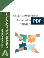Guia para la Organización Escolar del curso 2020-2021