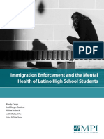 Immigration Enforcement Mental Health Latino Students