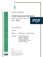 Nota CCNA Exp 2 - Routing Protocols and Concepts