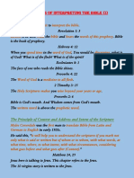 Principles of interpreting the bible (I)