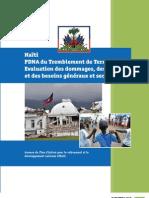 Haïti PDNA du Tremblement de Terre - 2010