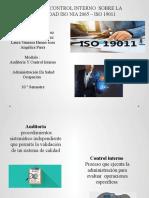 cartilla de control interno sobre la normatividad Iso Nia 2065- Iso 19011