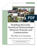 Building Mutually Beneficial School-Community Relationships