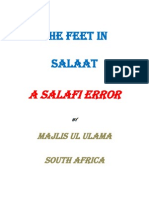 The Feet in Salah a Salafi Error