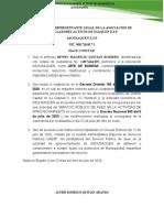 CERTIFICACIONES EMPLEADOS ASOUSAQUEN DECRETO DISTRITAL