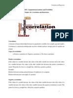 10. Correlation and Regression
