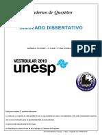 Simulado Vunesp 2º fase 2º DIA Dissertativo 28 agosto 2020