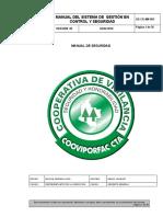 GD-CD-MN-003 MANUAL DEL SISTEMA DE GESTION EN  SEGURIDAD v 10 agosto 2020