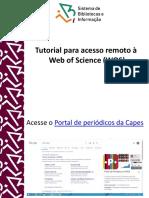 Tutorial acesso remoto webofscience