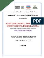 Bases del Concurso  2020 IEP LA