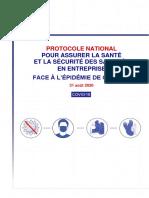 Protocole National Sante Securite en Entreprise 31 Aout 2020