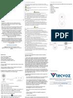 Guia Rápido TZO-CI101 Ver 1.1